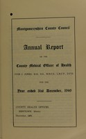 view [Report 1949] / Medical Officer of Health, Montgomeryshire County Council.