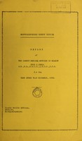 view [Report 1956] / Medical Officer of Health, Montgomeryshire County Council.