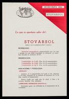 view Arsenoterapia oral Stovarsol : lo que es oportuno saber del: Stovarsol / Specia Productos Farmacéticos ; distribuidores para el Perú: Life.