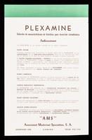 view Plexamine solución de monoclorhidrato de histidina para inyección intradérmica ... : Calci-Folliculine Plé foliculina natural de gran actividad para administración oral : trastornos de la pubertad y menipausia : nerviosidad femenina