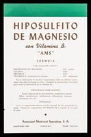 """view Hiposulfito de Magnesio con vitamina B1 """"AMS"""" ... : Para todos las edades Phytosplénol Plé granulado exquisito ...."""