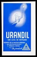 view Urandil con azul de metileno : sedante de la mucosa urinaria / Azpeco.