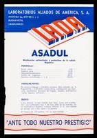 view Asadul medicatión estimulante y protectora de la célula hepática ... : Septiyodina quimoterapia de las infecciones / Laboratorios Aliados de America, L.A.D.A.