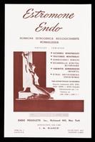 view Estromone Endo : hormona estrogenica biologicamente normalizada : ampulas, tabletas / Endo Products, Inc. ; representante para Cuba J.M. Blanco.