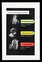 view 3 nuevas preparaciónes de Glaxo : Premenostril, regulador de la tensión premenstrual : Ammenostril, regulador de la amenorrea : Menostril, regulador del síndrome menopáusico