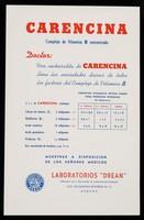view Carencina, complejo de vitamina B concentrado : Serenitas, regularizador del sistema nervioso ; simpaticotonia-vagotonia ...