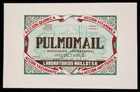 view Pulmomail, medicación anticatarrhal (inyectable)  : Naso-Vac, acción inmunizante, decongestiva, antiseptica y bacteriostatica ; simple y sulfamidado / Laboratorios Maillot, S.A.