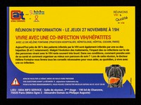 view Vivre avec une co-infection VIH/hépatites : réunion d'information, le jeudi 27 novembre à 19h / Actions Traitements avec Sida Info Service et Sidaction.