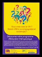 view Vous vivez avec le VIH? Besoin d'être accompagné(e) et soutenu(e)? : Découvrez notre programme d'éducation thérapeutique / Actions Traitements.