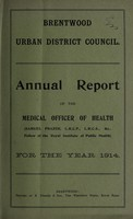 view [Report 1914] / Medical Officer of Health, Brentwood U.D.C.