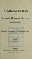 "view Pharmacopœia of the Seamen's Hospital Society (""Dreadnought"")."