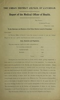view [Report 1908] / Medical Officer of Health, Caterham U.D.C.