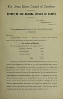 view [Report 1910] / Medical Officer of Health, Caterham U.D.C.
