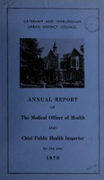 view [Report 1970] / Medical Officer of Health, Caterham & Warlingham U.D.C.