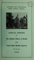 view [Report 1972] / Medical Officer of Health, Caterham & Warlingham U.D.C.