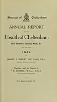 view [Report 1944] / Medical Officer of Health, Cheltenham Borough.