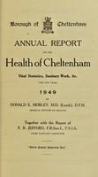 view [Report 1949] / Medical Officer of Health, Cheltenham Borough.