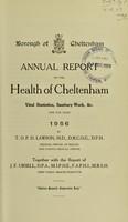 view [Report 1956] / Medical Officer of Health, Cheltenham Borough.