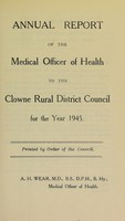 view [Report 1945] / Medical Officer of Health, Clowne / Clown R.D.C.