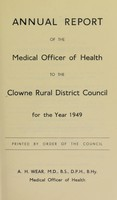 view [Report 1949] / Medical Officer of Health, Clowne / Clown R.D.C.