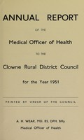 view [Report 1951] / Medical Officer of Health, Clowne / Clown R.D.C.