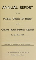 view [Report 1957] / Medical Officer of Health, Clowne / Clown R.D.C.