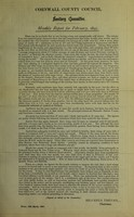 view [Report 1895] / Sanitary Committee [- Medical Officer of Health], Cornwall County Council.