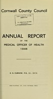 view [Report 1946] / Sanitary Committee [- Medical Officer of Health], Cornwall County Council.