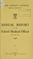 view [Report 1948] / School Medical Officer of Health, Devon County Council.