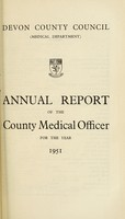 view [Report 1951] / Medical Officer of Health, Devon County Council.