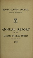 view [Report 1954] / Medical Officer of Health, Devon County Council.