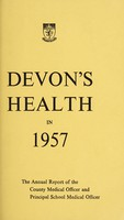 view [Report 1957] / Medical Officer of Health, Devon County Council.