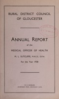 view [Report 1938] / Medical Officer of Health, Gloucester R.D.C.