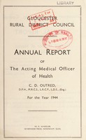 view [Report 1944] / Medical Officer of Health, Gloucester R.D.C.