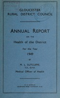 view [Report 1949] / Medical Officer of Health, Gloucester R.D.C.