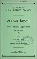 view [Report 1953] / Medical Officer of Health, Gloucester R.D.C.