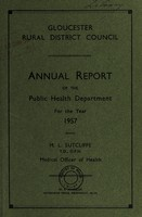 view [Report 1957] / Medical Officer of Health, Gloucester R.D.C.
