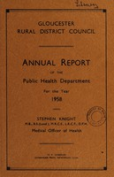 view [Report 1958] / Medical Officer of Health, Gloucester R.D.C.