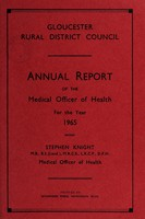 view [Report 1965] / Medical Officer of Health, Gloucester R.D.C.