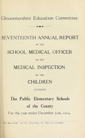 view [Report 1924] / School Medical Officer of Health, Gloucestershire County Council.