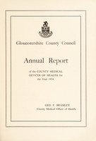 view [Report 1954] / Medical Officer of Health, Gloucestershire County Council.