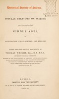view Popular treatises on science written during the Middle Ages, in Anglo-Saxon, Anglo-Norman, and English