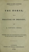 view The horse; with a treatise on draught