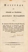 view Beiträge zur Erkenntniss und Beurtheilung zweifelhafter Seelenzustände / [Johann Christian August Clarus].