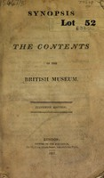 view Synopsis. The contents of the British Museum.