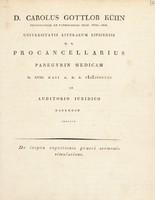view Panegyrin medicam ... indicit. De inepta cognitionis Graeci sermonis simulatione. [Cum vita candidati F. Francke.] / [Karl Gottlob Kühn].