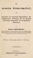 view Die neuern Arzneimittel, ihre physischen und chemischen Eigenschaften, Bereitungsweise, Wirkungen auf den gesunden und kranken Organismus und therapeutische Benützung / Von Victor Adolf Riecke.