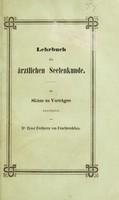 view Lehrbuch der ärztlichen Seelenkunde. Als Skizze zu Vorträgen / Bearbeitet von Ernst Freiherrn von Feuchtersleben.