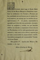 view Queriendo desde luego el Exmô. Señor Virrey ... Marques de Branciforte manifestar su satisfaccion á los cuerpos y personas que han contribuido con sus limosnas para el piadoso fondo de socorros [&c.].