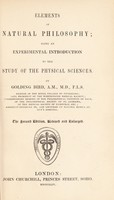 view Elements of natural philosophy; being an experimental introduction to ... the physical sciences / [Golding Bird].